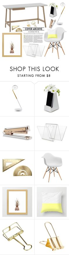 Home Office - White and Gold by by-jwp on Polyvore featuring interior, interiors, interior design, home, home decor, interior decorating, Minimal and home office
