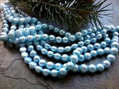 Freshwater Pearls, Two Hole, 7x5mm, Button Shape, Light Blue, 8 inch strand, 27 beads per strand, Priced per Strand by DragonflyBeadsStudio on Etsy