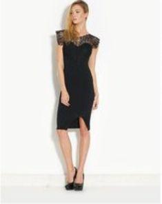f1a2fdd0de599 Ribbon Lace Neck Midi Dress Black Ladies UK Size 14 Box41 62 P  fashion   clothing  shoes  accessories  womensclothing  dresses (ebay link)