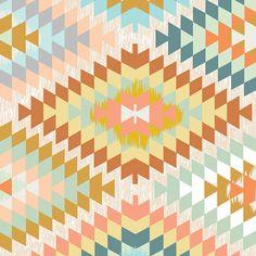 "Serape Dream - Wanderer by April Rhodes for Art Gallery - Kilim Tribal Fabric - By the Half Yard (18""x36"")"