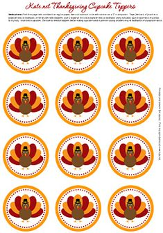 thanksgiving gift tag or cupcake topper
