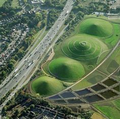 Northala Fields (London) created by artist Peter FINK and landscape architect…