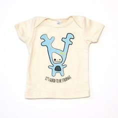 Strange Foo Baby T-Shirt by sighfoo on Etsy Reindeer Antlers, Organic Baby Clothes, Funny Cute, Cute Boys, Screen Printing, Unique Gifts, Graphic Tees, Mens Tops, T Shirt