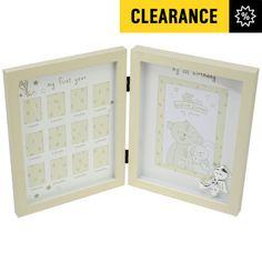 Haysom Interiors Beautiful Beige Baby Keepsake Box with Silver Plated Teddy Bear by Happy Homewares