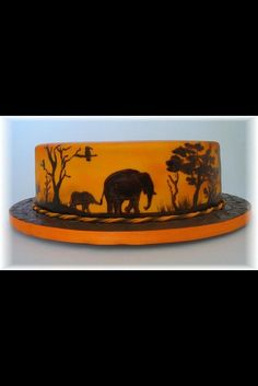 African Sunset theme cake