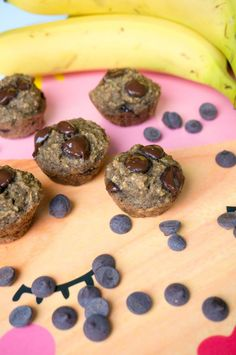 Healthy Banana Chocolate Chip & Oats Muffins / Recipe Bananen Chocolade Havermout Muffin – by Babies Kitchen