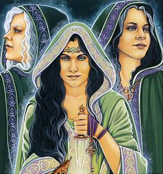Hecate ~ by Michele-Lee Phelan - the maiden, the mother, and the crone Hecate Goddess, Goddess Art, Moon Goddess, Celtic Goddess, Goddess Tattoo, Wiccan, Magick, Witchcraft, Maiden Mother Crone