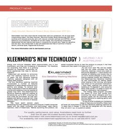 Press: Eczema Quarterly Spring 2016: Kleenmaid - the best you can own
