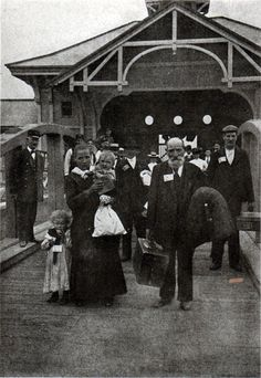 Immigrants in 1904 Afer being processed at Ellis Island
