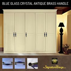 Handles define the style and provide individuality!   Blue Glass Brass Handle will add style and elegance to every doorway.. If you're searching for a door handle that lends itself to a clear and strong statement in door design, visit SignatureThings.com for exclusive ranges of premium quality door,  cupboard handles and accessories, as well as exclusive bathroom and home accessories.  #DoorHandles #NewArrivals #Brass #Lucite #DoorHardware #InteriorDecorating