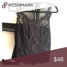 Black lace corset top Beautiful black lace corset top Tops Tank Tops