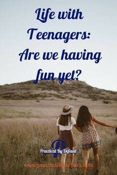 Sharing an inside peek at life with my two teens.