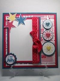 July Fourth Scrapbook Page