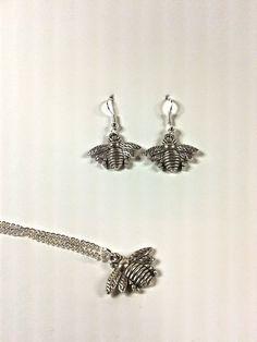 Bee Charm Pendant and Earrings Set » LoveTaliesin Jewellery #GiftIdea #Bee…