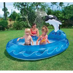 Intex 6.7' x 5.2' x 3.5' Spray 'N Splash Whale Pool  $15.58