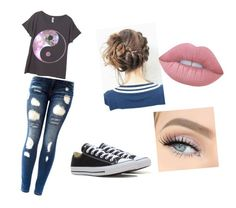 """""""Typical day"""" by enowack ❤ liked on Polyvore featuring Converse, GET LOST and Lime Crime"""