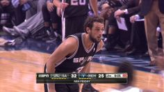 THE BEST PLAY OF THE NIGHT: 11/23/13...Ginobili passes to Marco Belinelli for the dunk!