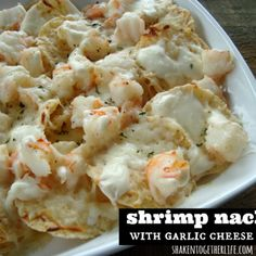 Image for Shrimp Nachos with Creamy Garlic Cheese Sauce