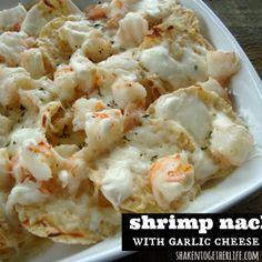Image for Shrimp Nachos with Creamy Garlic Cheese Sauce