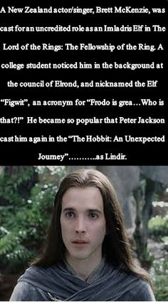 One of the most beautiful love stories in all of LOTR: The fandom and Figwit. Also...for those of you who don't already know. ..Brett is one half of 'Flight of the Conchords'. :)