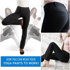 2093a1929738f [Betabrand] Tuxedo Straight Leg Dress Yoga Pants Betabrand Size Medium M  Black Dress Pant Yoga Pants Tuxedo Straight Leg Pull On Ult… | My Posh  Closet ...