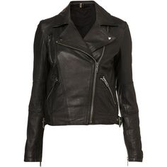 Traditional Leather Jacket ❤ liked on Polyvore