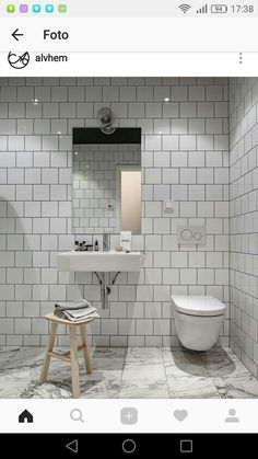 If I wouldn't know that this beautiful place was based in Sweden, I would have thought it was a New York loft. The rough industrial elements like the black glass walls, the exposed brick walls and the grey steel beams are softened … Continue reading → Bathroom Grey, Bathroom Layout, Bathroom Interior Design, Interior Design Living Room, Master Bathroom, Master Baths, Bad Inspiration, Bathroom Inspiration, Loft Estilo Industrial