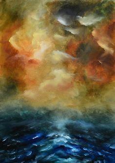 Expressionist sea painting by Niki Katiki