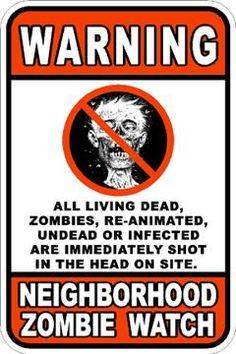 Zombie Sign by ~EvilDeadAlive on deviantART
