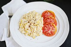 Sweet corn risotto, good side dish for salmon or chicken