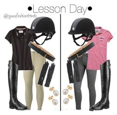 """""""Which Should I Wear To My Lesson Tomorrow?"""" by equusfashiontrends ❤ liked on Polyvore featuring American Eagle Outfitters, Superdry, Marc Jacobs, Ariat and Other"""
