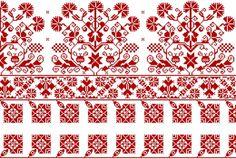 Lepedővég model, originally made szálánvarrott cross stitch and embroidery. Palestinian Embroidery, Hungarian Embroidery, Embroidery Sampler, Folk Embroidery, Embroidery Stitches, Embroidery Patterns, Cross Stitch Borders, Cross Stitch Patterns, Blackwork