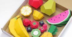 Papiroflexia fácil para niños: frutas de Mr. Printables ☛ http://www.cocina.es/2014/04/21/papiroflexia-facil-frutas-mr-printables/