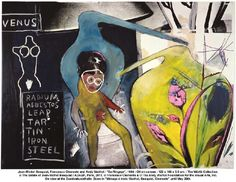 Andy Warhol, Jean-Michel Basquiat and Francesco Clemente colaboration