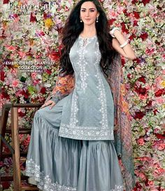 Gul Ahmed Chantilly de Chiffon festive collection CT-118