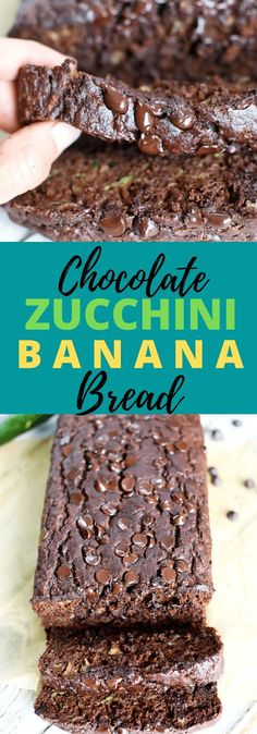 Like WHOA! This is a healthier quick bread recipe but definitely does NOT taste healthy! This is a must-make recipe for sure! Healthy Bread Recipes, Zucchini Bread Recipes, Snack Recipes, Breakfast Recipes, Healthy Desserts, Fun Desserts, Healthy Food, Zucchini Banana Bread, Yummy Cakes