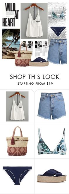 """""""I ♥ the beach"""" by florencia6969 ❤ liked on Polyvore featuring O'Neill, Mara Hoffman, Tory Burch and Miu Miu"""