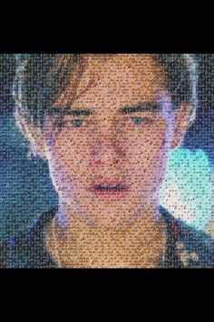 A picture of leonardo di caprio crying, made out of pictures of oscar winners. Poor Leo