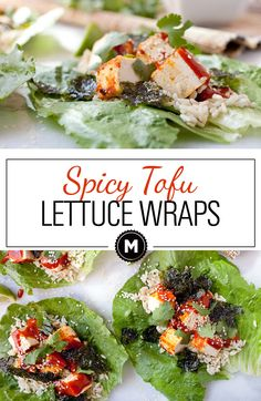 Spicy Tofu Lettuce Wraps: About as healthy as healthy can get! These lettuce wraps are light on flavor though thanks to a spicy peanut sauce and crunchy wasabi nori chips!