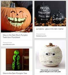 Glow in the Dark Pumpkins – Ideas to Make Your Pumpkin Glow with Paint, Stickers and more. Deal on Glow Paint!