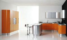 Best Kitchen Islands Designs: Orange Kitchen Islands Designs ~ interhomedesigns.com Kitchen Designs Inspiration