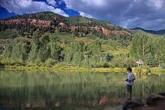Fishing at the Kids' Pond in Telluride Town Park is a great activity for kids under the age of 12. Need a fishing pole? You can rent equipment at the park.