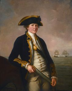 """Captain Charles Morice Pole- John Francis Rigaud (1781)  """"Admiral of the Fleet Sir Charles Morice Pole, 1st Baronet (18 January 1757 – 6 September 1830) naval officer and colonial governor born England and died Denham Abbey, Hertfordshire, England."""