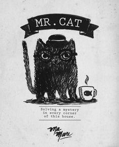 'Mr. Cat' (ink) More at http://facebook.com/mr.mooree