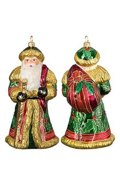 Joy to the World Collectibles 'Father Frost Birch Santa' Ornament available at #Nordstrom