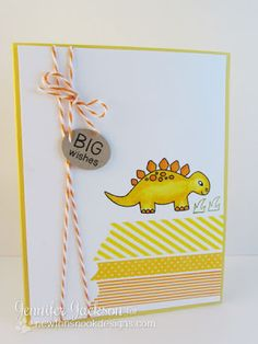 Dinosaur Card using Prehistoric Pals stamp set by www.newtonsnookdesigns.com