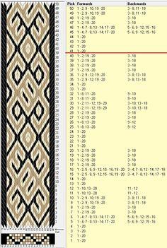20 tarjetas, 3 colores, repite cada 40 movimientos // sed_740 diseñado en GTT༺❁