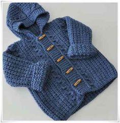 Saquitos bebé ojala de botones al frente. Se consigue en cualquier tienda d. - Tesettür Mont Modelleri 2020 - Tesettür Modelleri ve Modası 2019 ve 2020 Baby Boy Knitting Patterns Free, Sweater Knitting Patterns, Knitting For Kids, Baby Patterns, Crochet Baby Cardigan, Knitted Coat, Crochet For Boys, Baby Sweaters, Couture