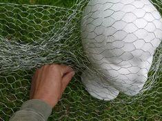 How to Make Chicken Wire Ghosts   eHow Chicken Wire Art, Chicken Wire Sculpture, Chicken Wire Crafts, Wire Art Sculpture, Art Sculptures, Human Sculpture, Angel Sculpture, Abstract Sculpture, Bronze Sculpture