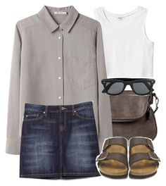 """""""Scott Inspired Outfit with Birkenstocks"""" by veterization ❤ liked on Polyvore featuring Monki, Moda Luxe, T By Alexander Wang, MANGO, Birkenstock and Topman"""
